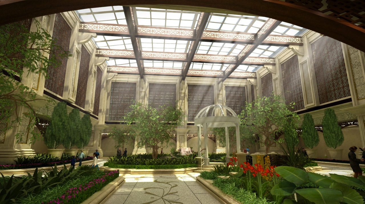 03 Sands Macau Casino Resort Interior Garden